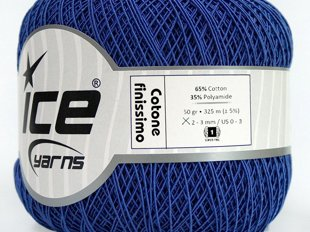 Cotone Finissimo, zils, 50g
