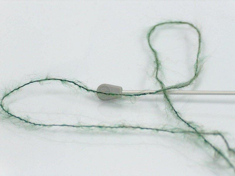 Alpaka un lins, zaļš, 30g
