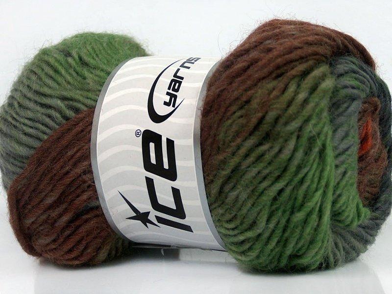 Marvelous, pelēks + zaļš + brūns, 50g
