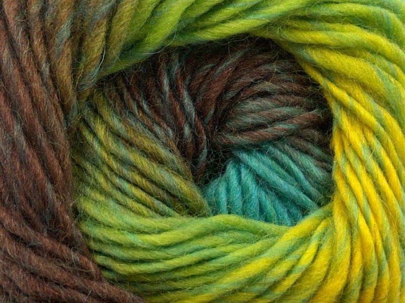 Marvelous, brūns + neona zaļš + tirkīzs, 50g