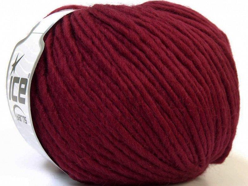 Filzy vilna, burgundy, 100g