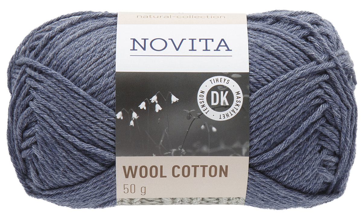 Novita wool cotton, džinss, 50g