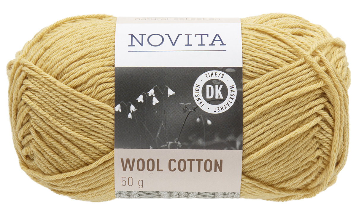Novita wool cotton, safrāns, 50g