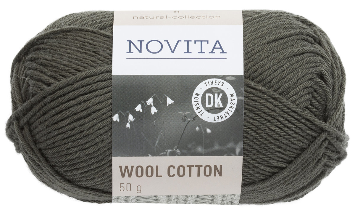 Novita wool cotton, skujkoki, 50g