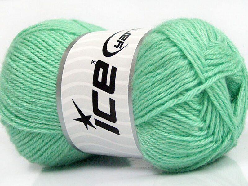 Silk Merino, mint zaļš, 50g