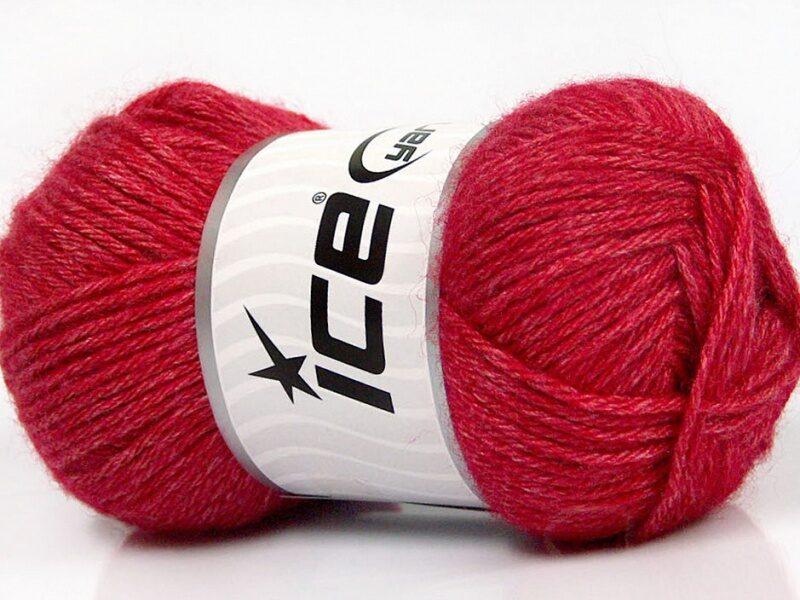 Silk Merino, sarkans, 50g