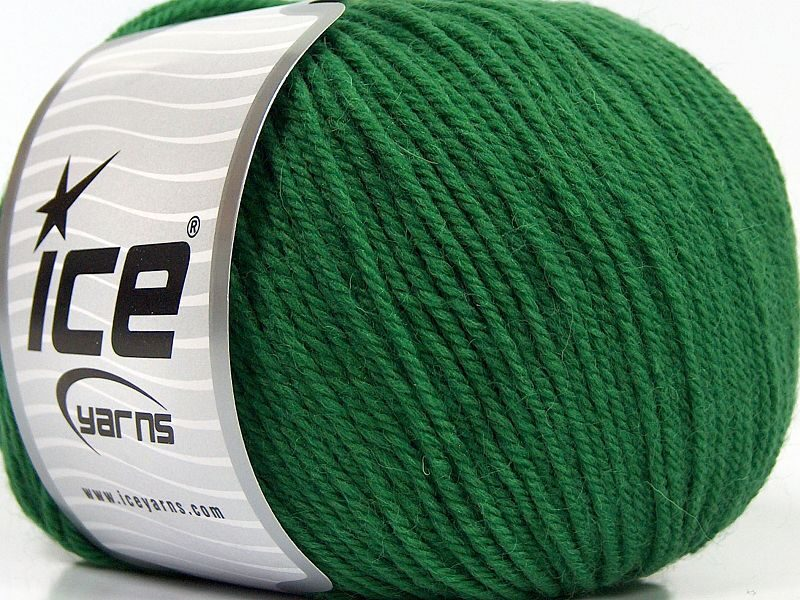 Merino vilna, zaļa, 100g