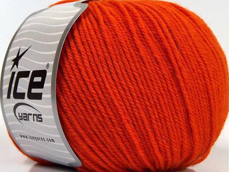 Merino vilna, oranža, 100g