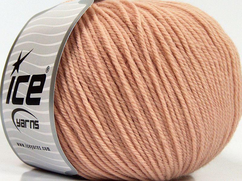 Merino vilna, pūdera rozā, 100g
