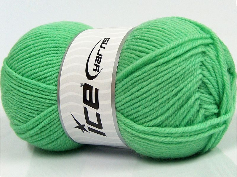 Merino vilna, mint zaļš, 100g