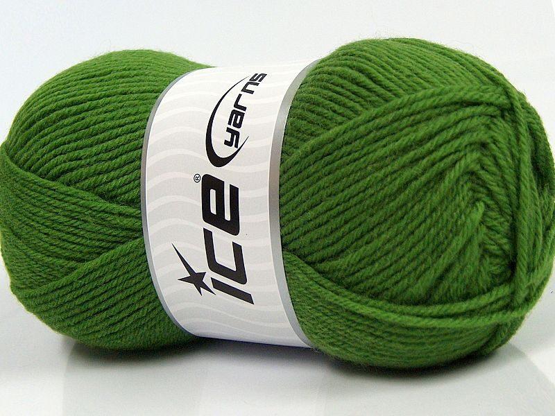 Merino vilna, gaiši zaļa, 100g