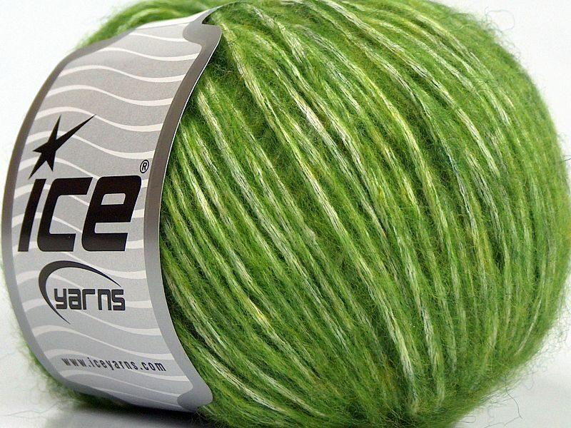 Alpaka un kokvilna, gaiši zaļš, 50g