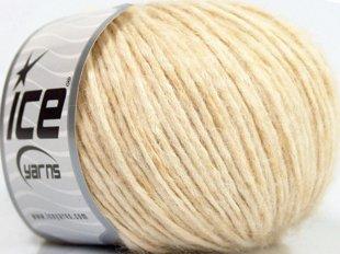 Alpaka un kokvilna, krēmkrāsa, 50g