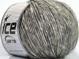 Alpaka un kokvilna, pelēkbalts, 50g