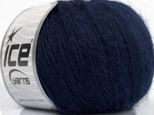 Alpaka un kokvilna, tumši zils, 50g