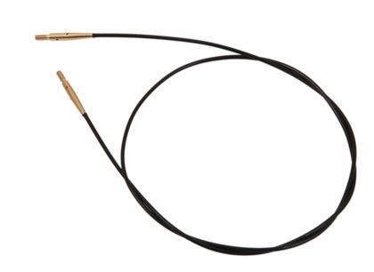 Maināmais kabelis adāmadatām, melns ar zelta savienojumiem, 28cm - 94 cm