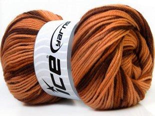 Wool DeLuxe, brūnie toņi, 100g