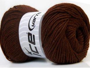 Wool DeLuxe, brūns, 100g