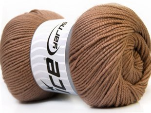 Wool DeLuxe, gaiši brūns, 100g