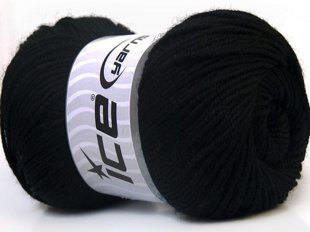 Wool DeLuxe, melns, 100g