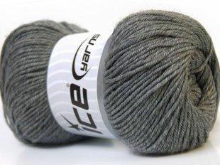 Wool DeLuxe, pelēks, 100g