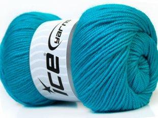 Wool DeLuxe, tirkīzs, 100g