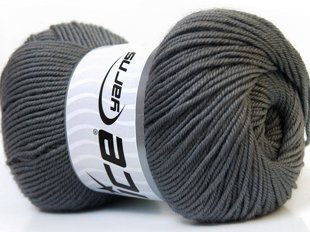 Wool DeLuxe, tumši pelēks, 100g