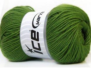 Wool DeLuxe, zaļš, 100g