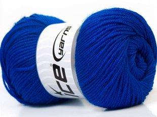 Wool DeLuxe, zils, 100g