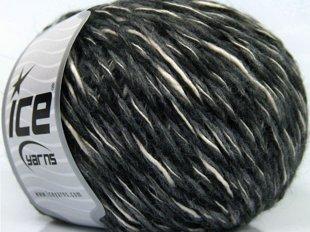 Isterico, melns + tumši pelēks + balts, 50g