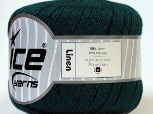 Lina diegs, tumši zaļš, 50g