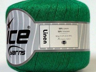 Lina diegs, zaļš, 50g