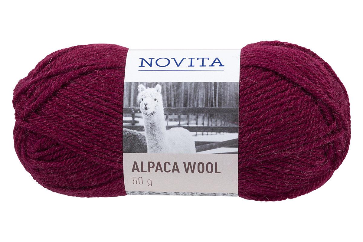 Novita Alpaca wool, ķiršu