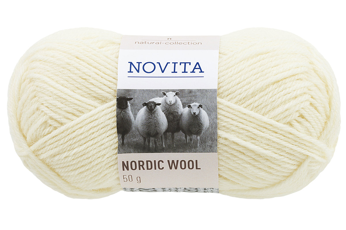 Novita Nordic wool, veci balts, 50g