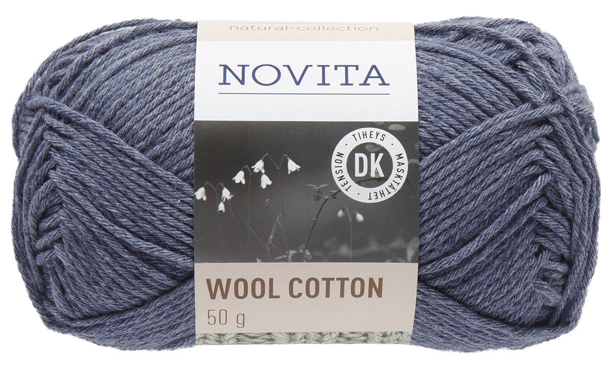 Novita wool cotton, džinss, 50g