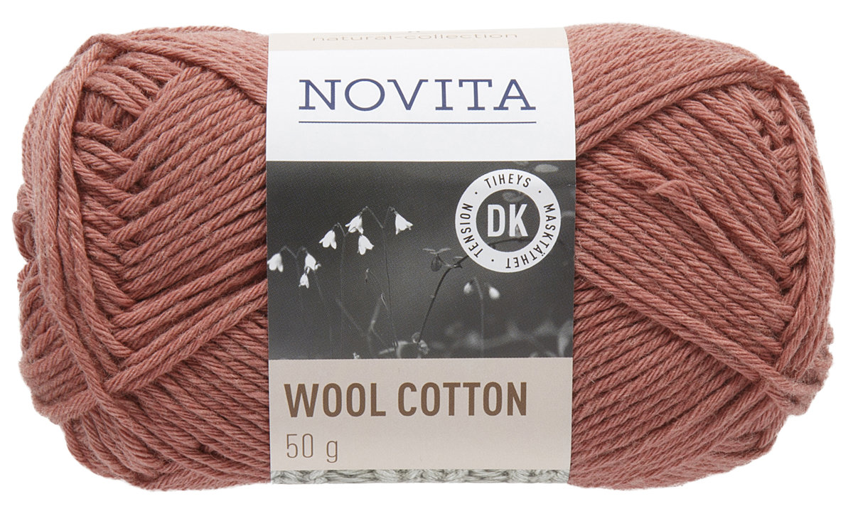 Novita wool cotton, granātābols, 532