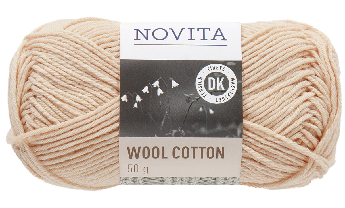 Novita wool cotton, pūderis, 50g